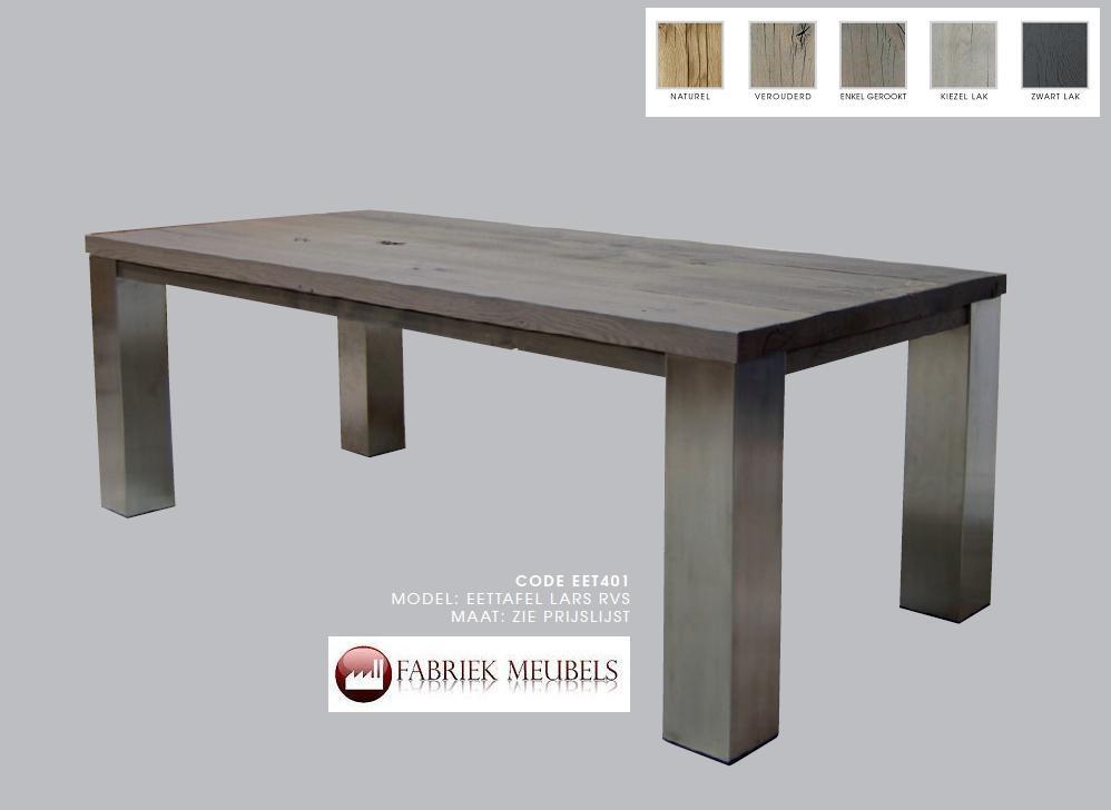 Eiken tafel op maat for Tafel op maat