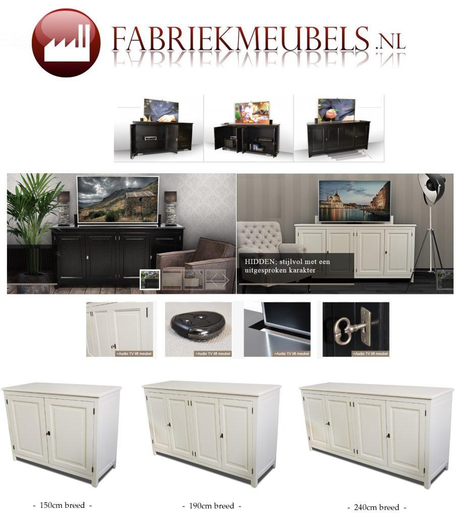 Tv Meubel Met Lift 55 Inch.Tv Meubel Met Lift Hidden Fabriekmeubels Nl