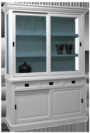 glaskast-milaan-4-deuren-3-lades