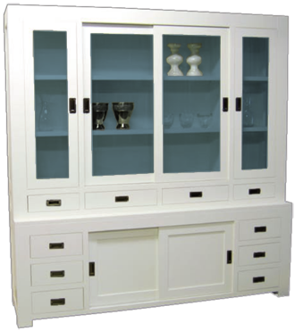 glaskast-square-6-deuren-10-lades