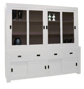 glaskast-square-8-deuren-4-lades